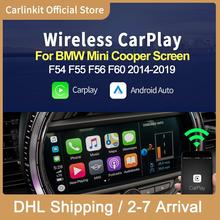 Carlinkit sans fil Apple CarPlay Android décodeur automatique pour BMW Mini Cooper F54 F55 F56 F60 2014-2018 NBT système Mrrorlink IOS 14