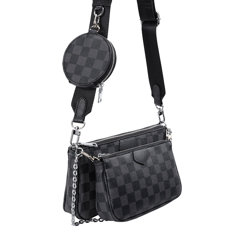 KYYSLO Checked Design Luxury Women Bag  European And American Fashion Shoulder Bag High Capacity Pu Leather Messenger Bag