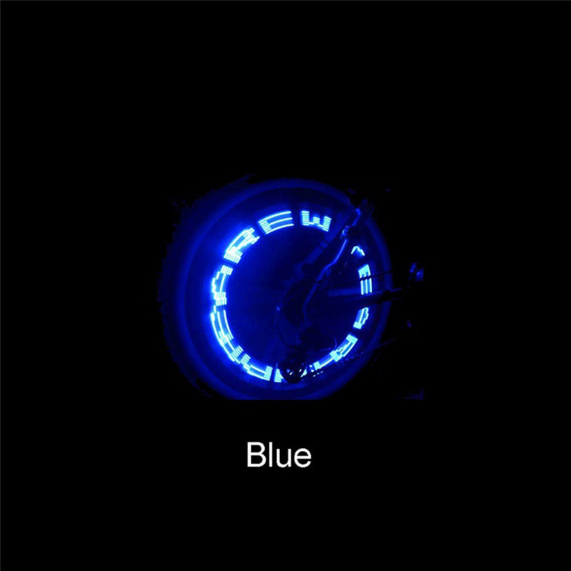 Image 5 - Bike Light within Battery Mountain Road Bike Bicycle Lights LEDS Tyre Tire Valve Caps Wheel spokes LED Light Bike Accessories-in Bicycle Light from Sports & Entertainment