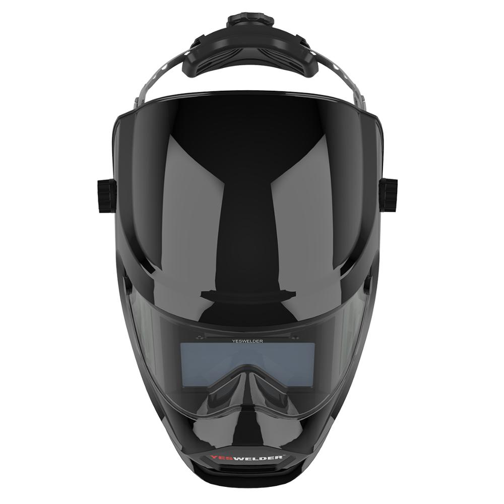 Image 5 - YESWELDER Anti Fog Up True Color Welding Helmet Solar Powered Auto Darkening Weld Mask with Side View for TIG MIG ARC LYG S400S-in Welding Helmets from Tools