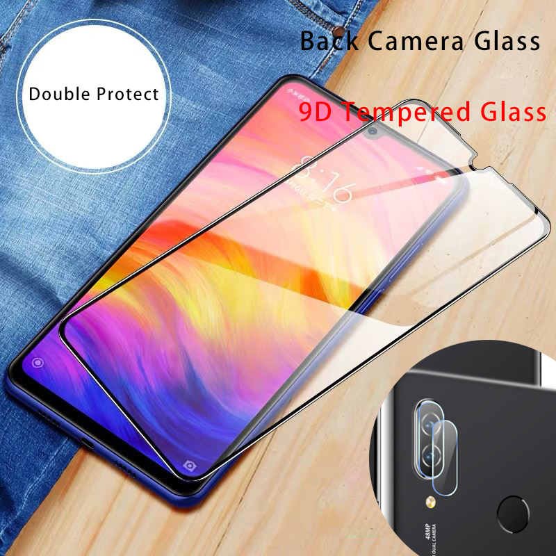 Screen Protector For Redmi 8 7 6 Pro 5 Plus Camera Tempered Glass For Xiaomi Redmi 8A 7A 6A 9D Lens Protective Glass For S2 GO