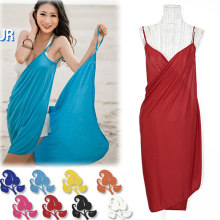 Seksi Beach Cover Up Pantai Baju Renang Sarung Musim Panas Bikini 8 Warna(China)