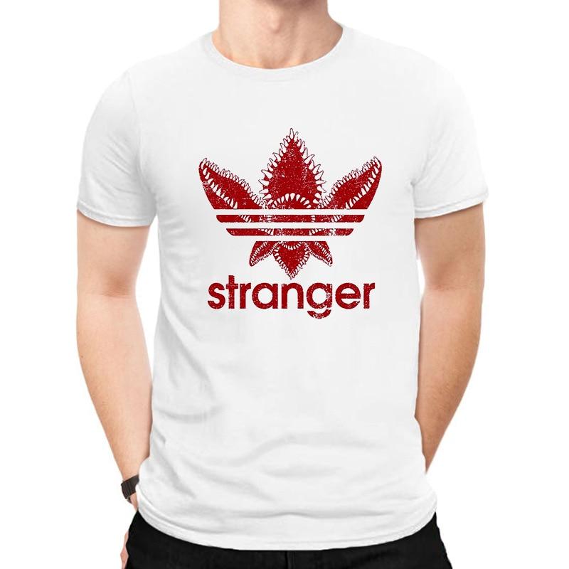 LUSLOS Funny Men T Shirt 2019 Summer Short Sleeve Stranger Things Tee Shirts O-neck Casual Harajuku Tee Tops Oversized Men's Top