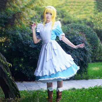 New Anime Sword Art Online Alicization SAO Alice Synthesis Thirty Cosplay Costume Maid Dress Halloween Costumes for Women S-XL 1