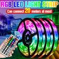 RGB LED Streifen Licht 5050 SMD Wasserdichte Flexible Streifen Lampe DC12V Band Band 5M 10M 15M 20M Fita LED Band Diode US EU UK Stecker