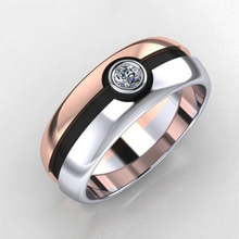 Austrian Cubic Zirconia Engagement/Wedding Finger Rings For Women Rose Gold Color Fashion Brand Jewelry For Women luxury large pink opal finger rings rose gold color fashion brand cubic zirconia punk jewellery jewelry for women dfr086