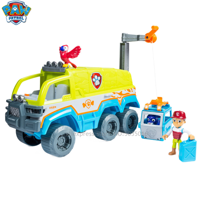 Paw patrol Cartoon Boys and girls children 39 s educational toys simulation scene rescue car jungle off road vehicle set in Diecasts amp Toy Vehicles from Toys amp Hobbies