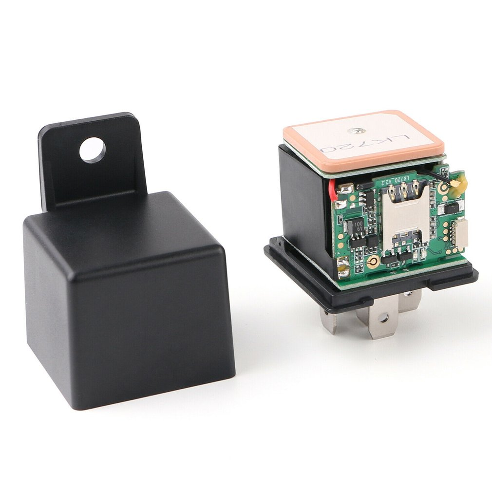 Car GPS Tracker Tracking Security Device Relay-Shape Cut Oil Remotrly 10-40V Anti-theft Monitoring Cut Off Oil Power
