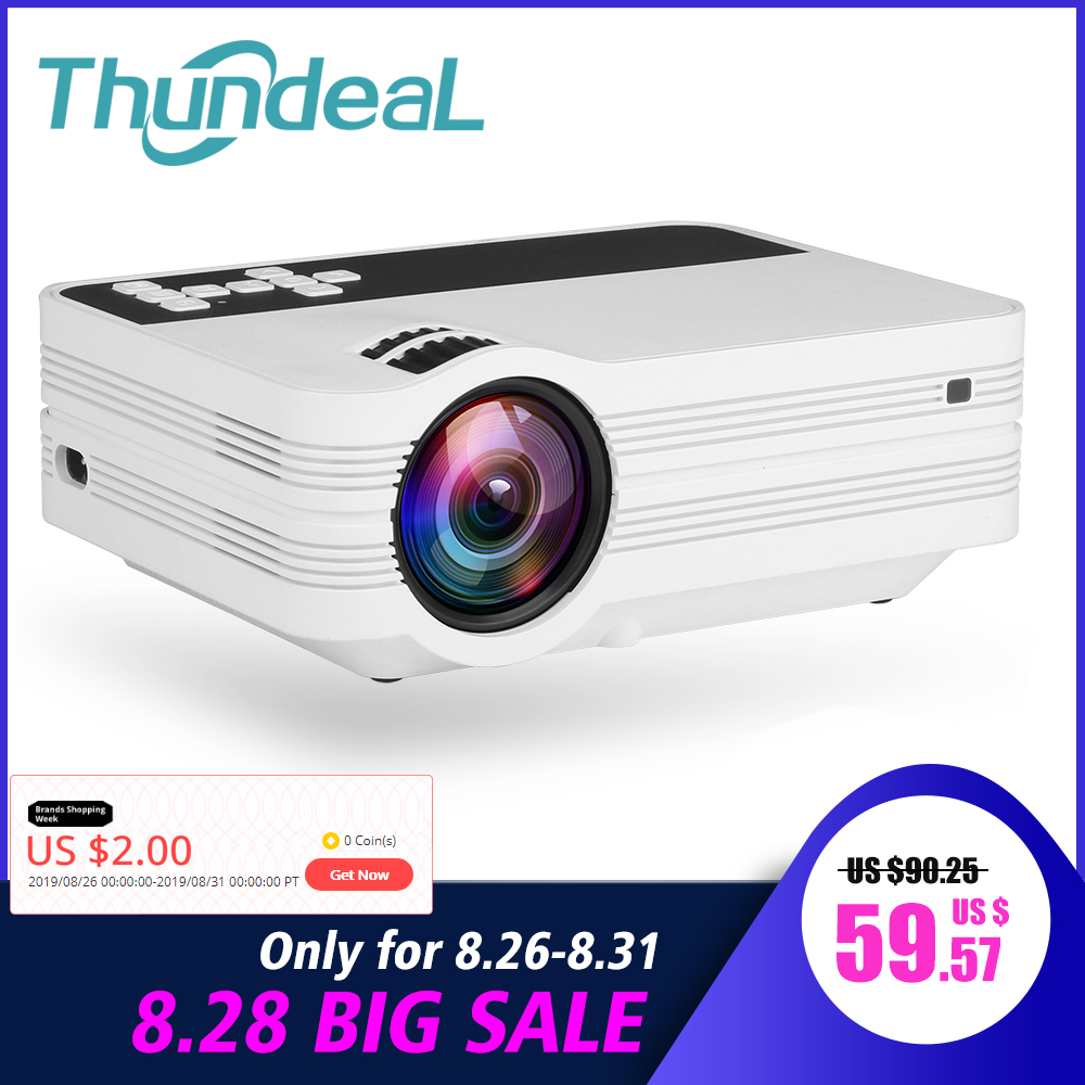 Thundeal Mini Projector Beamer Support TV Video Android-Wifi 2000lumens Home Theater