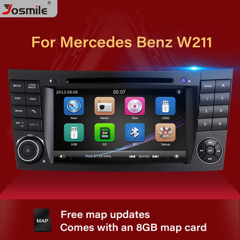 2 Din Car DVD Player For Mercedes W211 E320 W219 W463 CLS350 CLS500 CLS55 E200 E220 E240 E350 Radio Multimeida GPS Navigation image