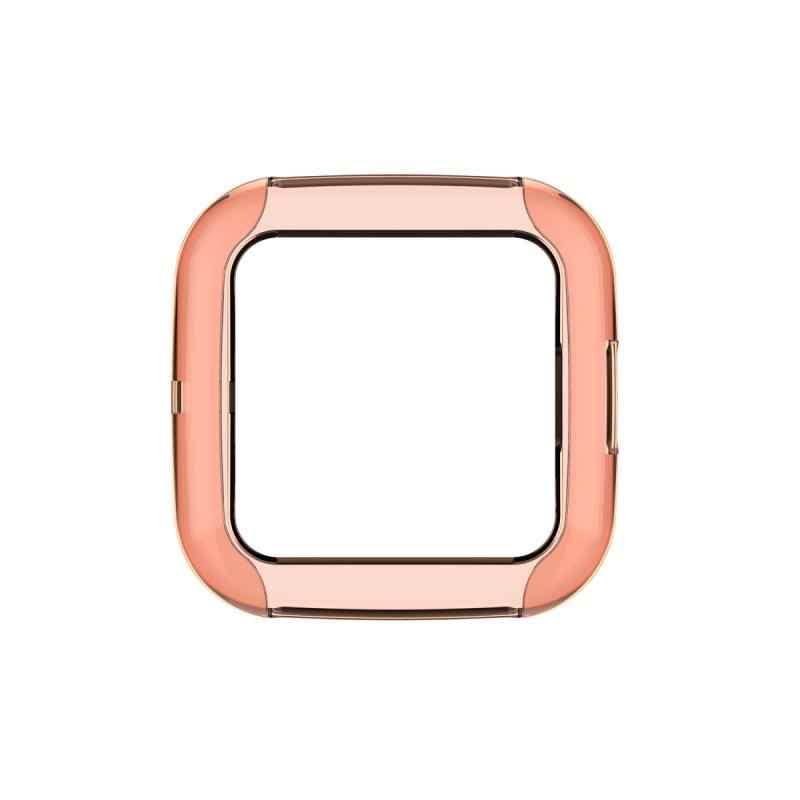 Ultra-Dunne Zachte Tpu Protector Case Cover Clear Beschermende Shell Voor Fitbit Versa 2 Band Smart Horloge Armband Scherm protector