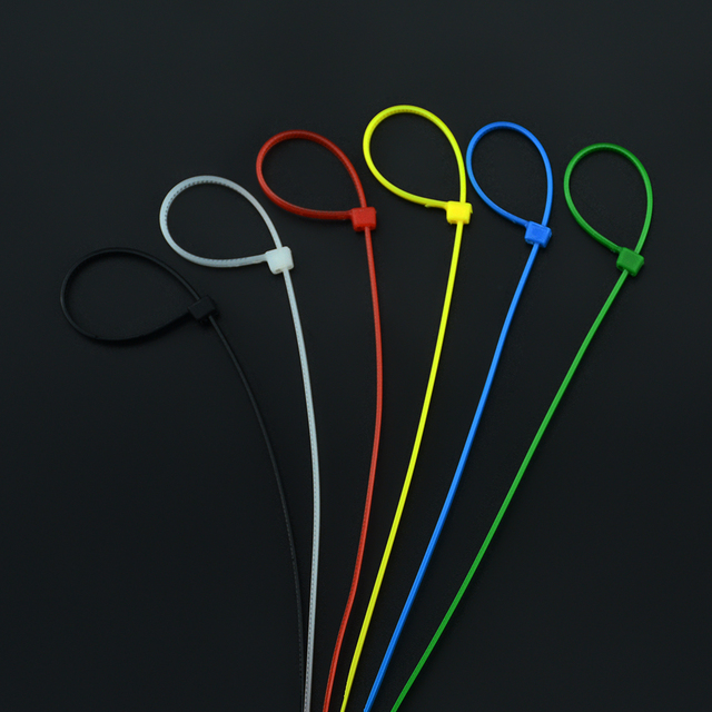 100PCS/Pack Cable Tie 3*150 Self-Locking Plastic Seal Colorful Nylon Tie Wire Cable Zip 3x150mm Width 2.5MM Length 15CM