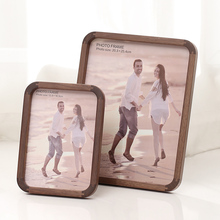 Wooden Horizontal and Vertical Photo Frame Solid Wood Living Room Bedroom Table Modern Simplicity Wedding Photo Picture Frame a4 size wood photo frame solid wood photo frame stand table display photo quadro decoration tv wall frame best gift 2019