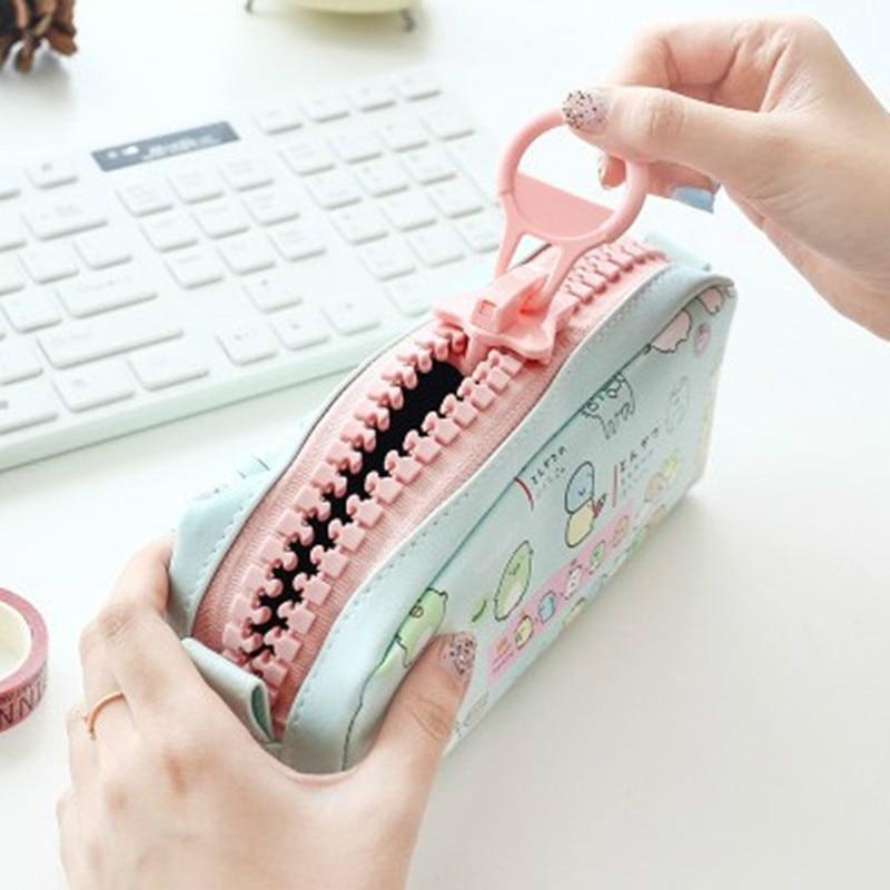 Cute Sumikko Gurashi Pencil Bag For School Big Capacity Pencil Case Creative Stationery Pouch Estuche School Office Supply Zakka