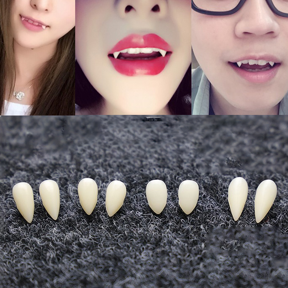 DIY Environmentally Friendly Resin Halloween Costume Props Party 1 Pair 4 Size  Dentures Props Vampire Teeth Fangs