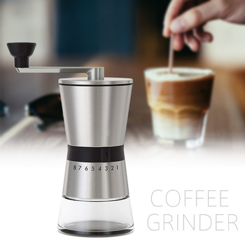 Easy Clean Kitchen Eco Friendly Home Portable Hand Crank Coffee Grinder Large Capacity Adjustable Stainless Steel Manual 2