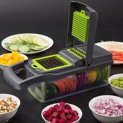Groente Fruit Multifunctionele Slicer Rasp Versnipperd Dunschiller Aardappelen Wortel Blokjes Blokjes Keuken Eetkamer Bar Huishoudelijke Chopper