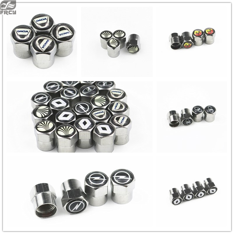 1SET Car Tire Valve Caps Air Tyre Stems Cover 6corners For Bmw Benz Vw Audi Ford Kia Hyundai Nissan VW Toyota Mazda Volvo LexuS