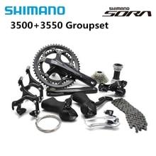 Shimano SORA 3500 3550 дорожный велосипед, 2x9 скоростной набор, шатун 170 мм 50/34 Т с BB4600 18s, велосипедные детали, кассета 11 25T Группа