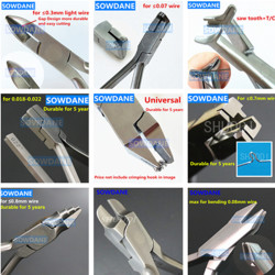 Dantal Orthodontic Plier Light Wire Cutter Plier NITI Archwire Cinch Back Plier Loop Forming Wire Plier Young Loop Bending Tool