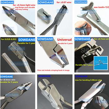 Dantal ortodontyczne szczypce światła przecinak do drutu szczypce NITI Archwire Cinch powrót szczypce pętli formowania drutu szczypce młoda pętla narzędzie do zginania tanie i dobre opinie SOWDANE dental plier Metal