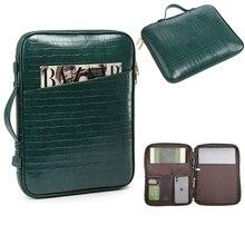 Crocodile Briefcase Men Business Handbag Women Laptop Shoulder Bags  For 13 inch Laptop Casual Tote Bags