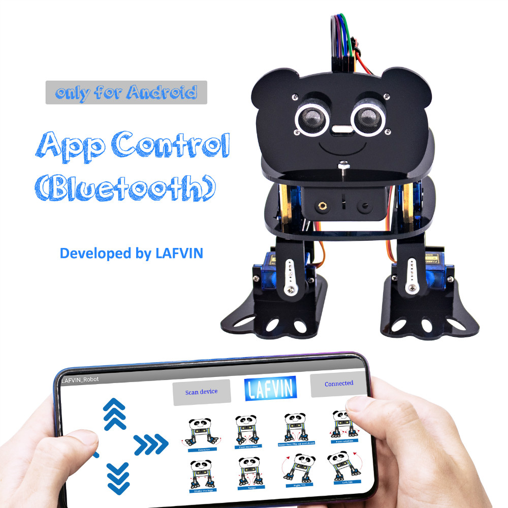 Clearance Sale\LAFVIN Robot-Kit Programmable Arduino-Nano Electronic-Toy/support Android App-Control