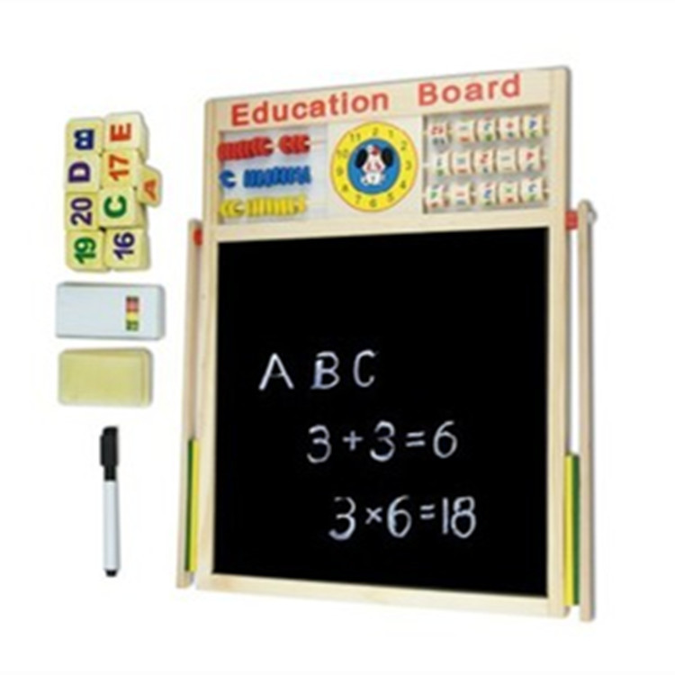Young CHILDREN'S Baby Double-Sided Sketchpad Blackboard Whiteboard Drawing Board Multi-functional Magnetic Drawing Board Infants
