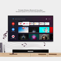 20W Wireless Bluetooth Soundbar Speaker With Built in Subwoofer 4 Speaker Surround Sound Bar 2.0 Channel For Home PC TV Phone