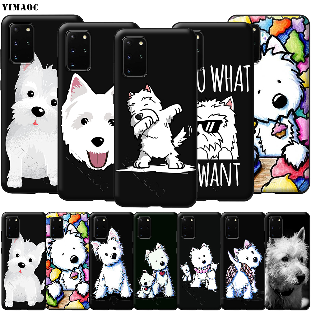 YIMAOC Cartoon Westie <font><b>Dog</b></font> <font><b>Case</b></font> for <font><b>Samsung</b></font> Galaxy A10s A20s A30s A40s A50s A70s Note 10 Plus A2 J4 J6 <font><b>J7</b></font> J8 Core image
