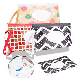 Wipes Container Cosmetic-Pouch Clutch Carrying-Case Easy-Carry And Bag Clamshell Eco-Friendly