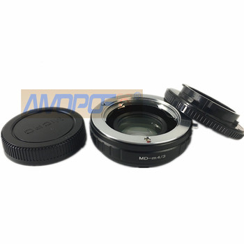MD to M4/3 Focal Reducer Speed Booster Adapter Minolta MC MD mount Lens to For Panasonic DMC-G1, DMC-G2, DMC-G3, DMCGH1