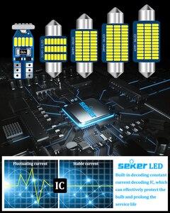 Image 3 - Seker Canbus עבור וולוו V50 V60 V70 XC60 XC70 XC90 S40 S60 S70 S80 C30 C70 LED פנים כיפת מפה תא מטען Footwell דלת ערכת אור