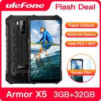 Ulefone Armatura X5 Robusto Smartphone Android 9.0 Octa-core Helio P23 NFC IP68 3GB 32GB 5000mAh telefono cellulare 4G Del Telefono Mobile Android