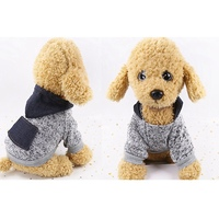 Snowflake Fabric Pet Clothes Soft Autumn And Winter 2 legged Costume Dog Knitting Sweater Hoodie With Denim Pocket A01
