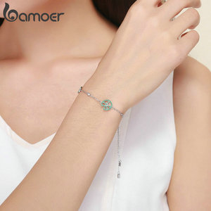 Image 5 - bamoer Funny Lotus Leaf Bracelet for Women Exquisite Design Sterling Silver 925 Jewelry Engagement Jewelry Gifts BSB006