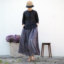 Осенняя художественная Однотонная юбка-пачка с оборками, эластичная плиссированная юбка, расклешенная юбка, юбка-полукомбинезон 190728