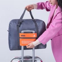 Fashion WaterProof Travel Bag Large Capacity journey duffle Women Nylon Folding