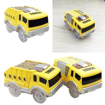 Śledź samochody zabawkowe dzieci LED Light Electronics tory samochodowe samochody zabawki inżynieria samochody zabawkowe 5 2 cm śledź samochody zabawkowe edukacyjne prezenty dla dzieci tanie i dobre opinie Prettysoul Z tworzywa sztucznego 3 lat Samochód