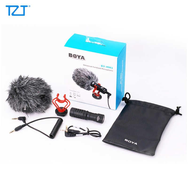 Tzt Boya BY-MM1 Quay Video Microphone Cho Máy DSLR Camera Điện Thoại Thông Minh Ghi Âm Phỏng Vấn Sống Vlogging