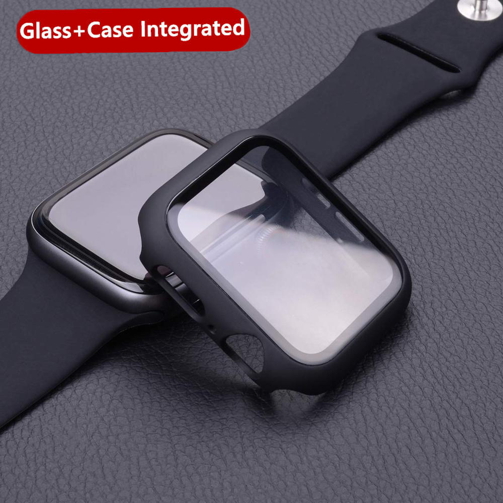 Tempered Case+film For Apple Watch 5 4 44mm 40mm IWatch 3 2 1 42mm 38mm Screen Protector+cover Bumper Apple Watch Accessories