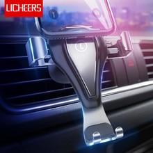 Licheers Car Phone Holder for iPhone 7 8 Xiaomi Gravity Air