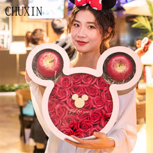 2021 Creative Gift Box Rose Gift Boxes With Flower Wedding Banquet Decor Valentine's Day New Year Family Girlfriend Gift Boxes