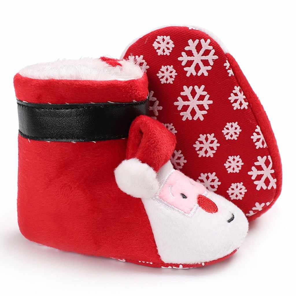 Детская обувь для девочек; Рождественская теплая зимняя обувь из флока для маленьких девочек и мальчиков; обувь для подиума; zapatos Niza detskaя obuwь
