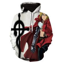 New 3D Fullmetal Alchemist Men Women Hoodies Fashion Casual Cosplay Hoodie Autumn Winter Funny Streetwear Sweatshirt Mens Coat