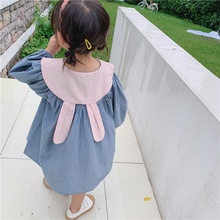 Baby Girl Dress 1-8T Toddler Clothes Children Autumn Girls Plaid Printed Cotton Long Sleeve Round Collar Casual #m