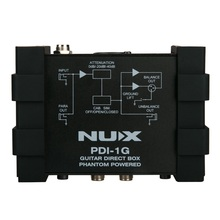 NUX PDI-1G DI Box Guitar Direct Injection Phantom Power Box Audio Mixer Para Out Ground Lift Compact Design caline active direct box di box direct input effects pedal amp simulation free shipping