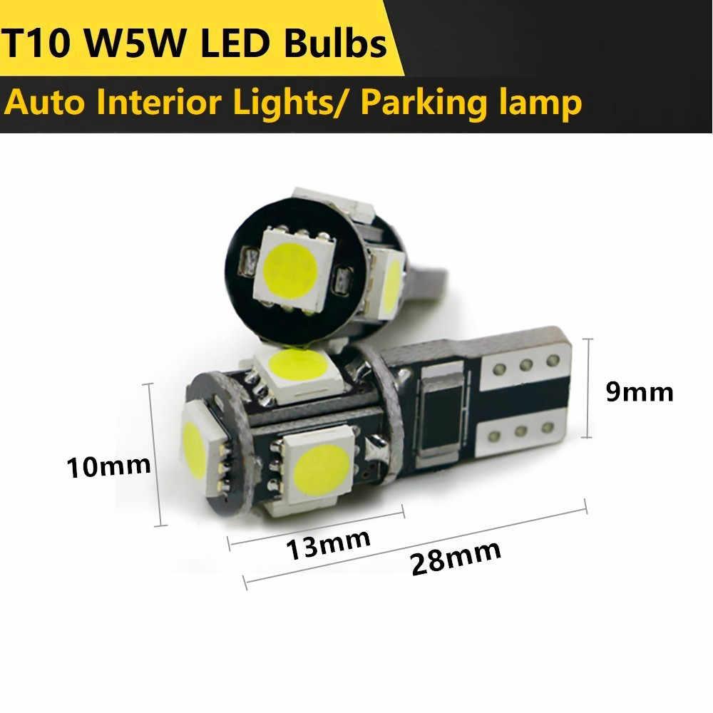 10X Auto Styling Auto LED T10 Canbus 194 W5W 5050SMD Glühbirne Kein Fehler Für Nissan Qashqai Almera Juke Tiida x-Trail Hinweis J11