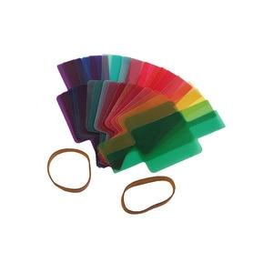 Image 3 - 20 צבעים/חבילה פלאש Speedlite צבע מסנני כרטיסי עבור Canon עבור ניקון מצלמה צילום סינון ג לי פלאש מבזק