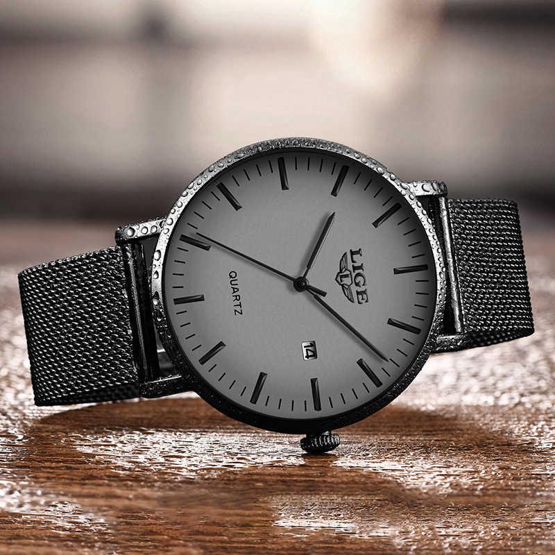 ליגע 2020 relogio masculino יוקרה מותג שעוני יד דק אנלוגי מעוקל מראה גברים של קוורץ שעון עסקי שעון גברים שעון